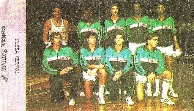 Liga Baloncesto 1985-1986. Clesa Ferrol (Clesa Ferrol). Chicle Gumtar.