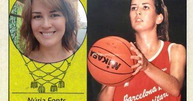 Núria Fonts (C.B.F. Universitari de Barcelona). 📸: Cromo-Montaje del Grupo de Facebook Nuestros álbumes de cromos.