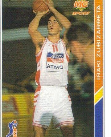 ACB-94-95. Inaki Zubizarreta Amway Zaragoza. Editorial Mundicromo. 📸: Francisco Romero López.