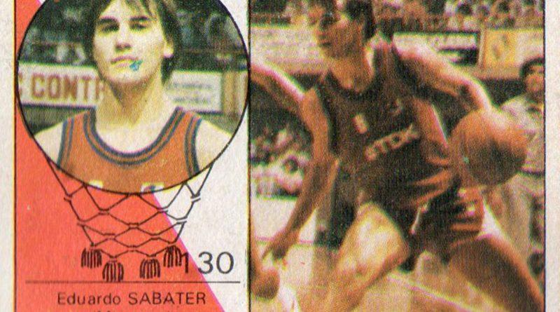 Baloncesto 85-86. Edu Sabater (TDK Manresa). Editorial Merchante. 📸: Grupo de Facebook Nuestros álbumes de cromos.