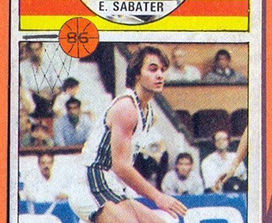 Baloncesto 86-87. Edu Sabater (TDK Manresa). Editorial Merchante. 📸: Grupo de Facebook Nuestros álbumes de cromos.