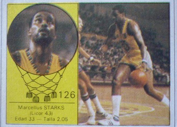 Campeonanto de Baloncesto. Liga 1985-86. Marcelous Starks (Licor 43). Editorial J. Merchante. 📸: Luis López Bermúdez.
