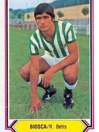 Liga 80-81. Biosca (Real Betis). Ediciones Este. 📸: Toni Izaro.