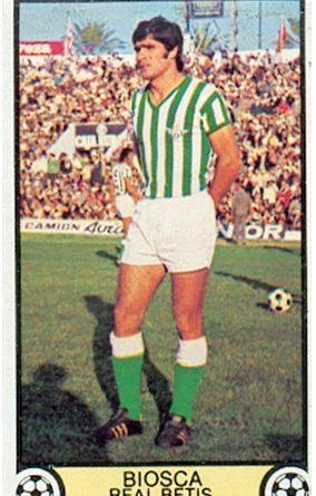 Liga 79-80. Biosca (Real Betis). Ediciones Este. 📸: Toni Izaro.