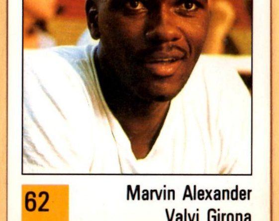 Basket 90 ACB. Marvin Alexander (Valvi Girona). Ediciones Panini. 📸 Grupo de Facebook Nuestros álbumes de cromos.