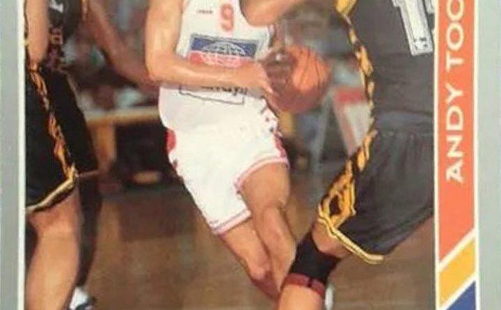 ACB 94-95. Andy Toolson (Amway Zaragoza). Editorial Mundicromo. 📸: Antonio Jiménez.