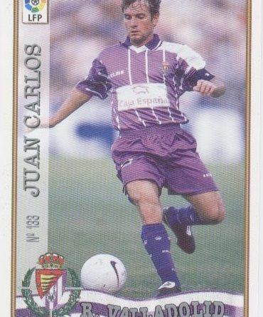 Las fichas de la Liga 97-98. Nº 133. Juan Carlos (Real Valladolid). Editorial Mundicromo.