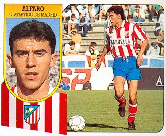 Liga 91-92. Alfaro (Atlético de Madrid). Ediciones Este. 📸: Toni Izaro.