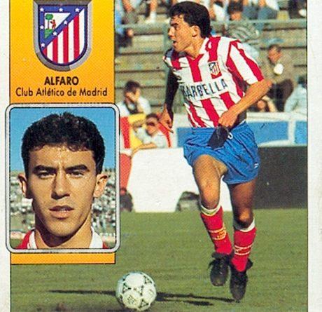 Liga 92-93. Alfaro (Atlético de Madrid). Ediciones Este. 📸: Toni Izaro.
