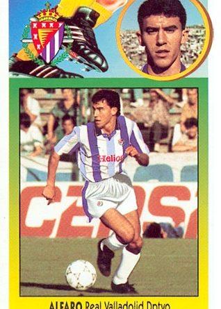 Liga 92-93. Alfaro (Real Valladolid). Ediciones Este. 📸: Toni Izaro.