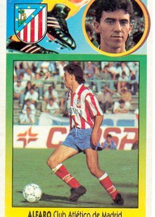 Liga 93-94. Alfaro (Atlético de Madrid). Ediciones Este. 📸: Toni Izaro.