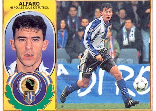 Liga 96-97. Alfaro (Hércules C.F.). Ediciones Este. 📸: Toni Izaro.