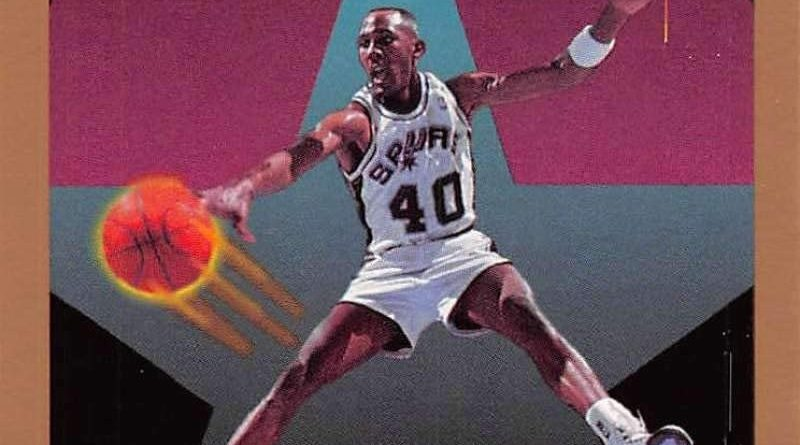 NBA 1990-91. Willie Anderson (San Antonio Spurs). Official NBA Trading Card. 📸: José Ramírez Lago.