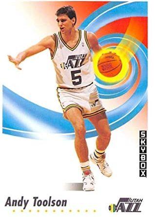 NBA 1991-1992. Andy Toolson (Utah Jazz). SkyBox. 📸: Lorenzo Mínguez.