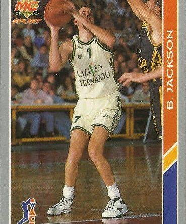 ACB 94-95. Brian Jackson (Caja San Fernando) Editorial Mundicromo. 📸: Antonio Serrano Suárez