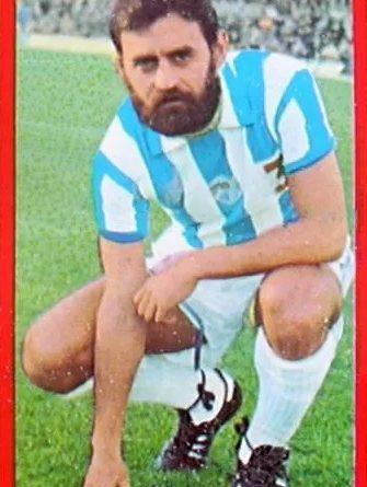 Liga 77-78. Laguna (C.D. Málaga). Ediciones Ruiz Romero. 📸: Jorge Cabañas.