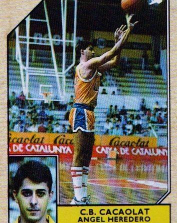Liga ACB 1988-89. Ángel Heredero (C.B. Cacaolat Granollers). Editorial Merchante. 📸: Alonso Fernández De la Cuesta.