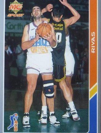 ACB-94-95. Ramón Rivas (Taugrés Baskonia). Editorial Mundicromo. 📸: Juan Ramón Aguado Monje.