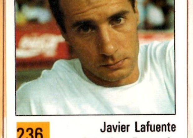 Basket 90 ACB. Javier Lafuente (C.B. Sevilla Caja San Fernando). Ediciones Panini. 📸: Grupo de Facebook Nuestros álbumes de cromos.