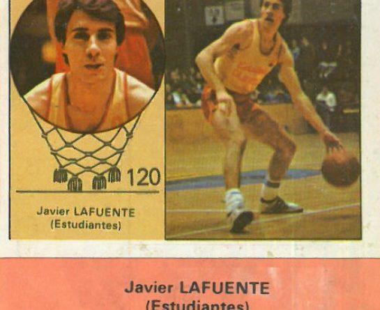 Campeonato Baloncesto Liga 1984-1985. Javier Lafuente (Estudiantes). Ediciones J. Merchante - Clesa. 📸: Emilio Rodríguez Bravo.