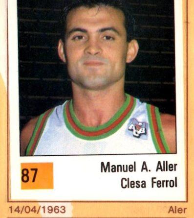 Basket 90 ACB. Manuel Aller (Clesa Ferrol). Ediciones Panini. 📸: Grupo de Facebook Nuestros álbumes de cromos.