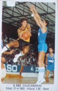 Baloncesto 1988. Salva Díez (Caja Canarias). Ediciones J. Merchante. 📸: Paco Jiménez.