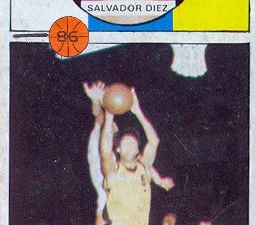 Baloncesto 86-87. Salva Diez (Cajacanarias). Editorial J. Merchante, 📸: Grupo de Facebook Nuestros álbumes de cromos.