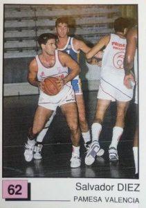 Basket 91 ACB. Salva Díez (Pamesa Valencia). Ediciones Panini. 📸: Paco Jiménez