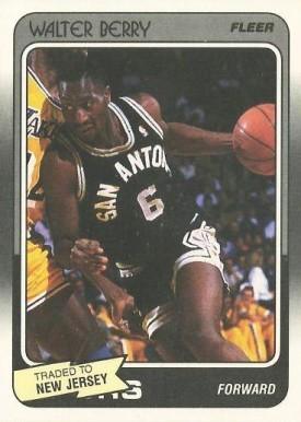 1988. Walter Berry (San Antonio Spurs). Fleer. 📸: Rubén Rodríguez Varela.