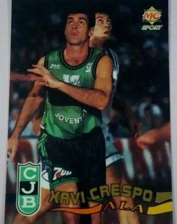 Liga ACB 96. Xavi Crespo (Joventut de Badalona) Editorial Mundicromo. 📸: José Carlos Arias.
