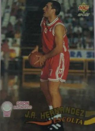 ACB 95. Nº 179. Juan Antonio Hernández (Gijón Baloncesto). Editorial Mundicromo. Fotografía Miguel Ángel Rivas Machado.