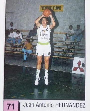 Basket 91 ACB. Juan Antonio Hernández (C.B. Magia Huesca). Ediciones Panini. 📸: Miguel Ángel Rivas Machado.