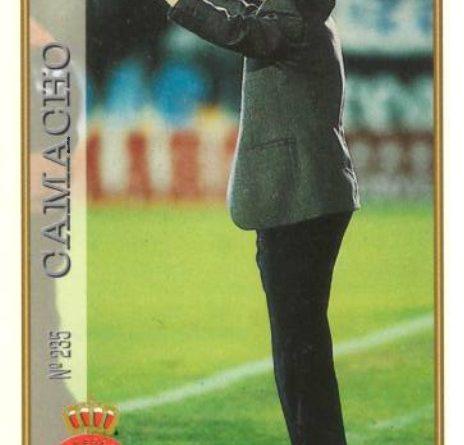 Las fichas de la Liga 97-98. Nº 235. Camacho (R.C.D. Espanyol). Editorial Mundicromo.