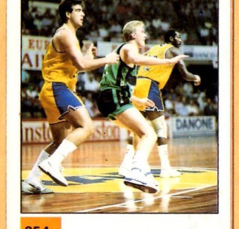 Basket 90 ACB. Román Carbajo (Caja Bilbao). Ediciones Panini. 📸: Grupo de Facebook Nuestros álbumes de cromos.