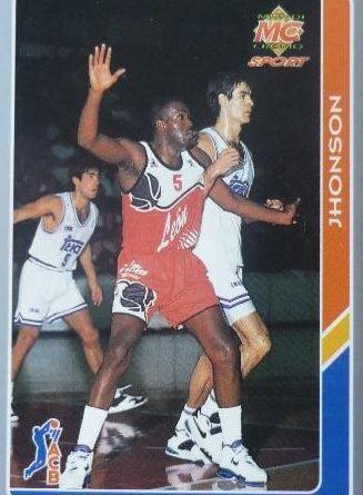 ACB 94-95. Reginald Johnson (C.B. León) Editorial Mundicromo. 📸: Francisco Martín.