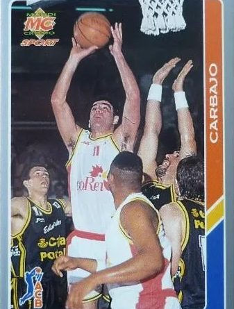ACB 94-95. Román Carbajo (Coren Orense) Editorial Mundicromo. 📸: Luis Pérez Conesa.