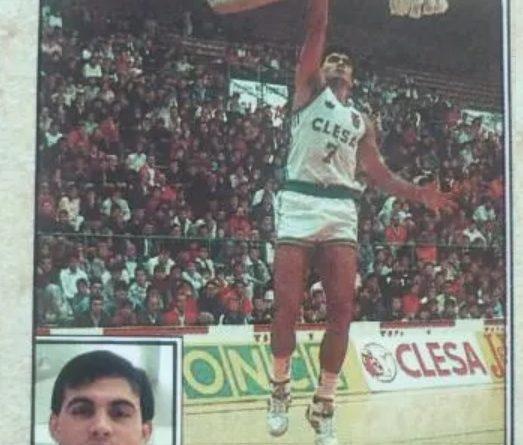 Baloncesto 1988-89. Manuel Aller (Clesa Ferrol). Editorial J. Merchante. 📸: Fernando Cardona.