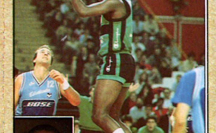 Baloncesto 1988-89. Reginald Johnson (Joventud de Badalona). Editorial J. Merchante. 📸: Grupo de Facebook Nuestros álbumes de cromos.