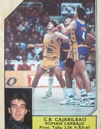 Baloncesto 1988-89. Román Carbajo (Cajabilbao). Editorial J. Merchante. 📸: Luis Pérez Conesa.