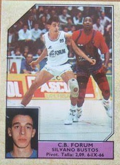 Baloncesto 1988-89. Silvano Bustos (Forum Filatélico). Editorial J. Merchante. 📸: Fernando Amaya Pérez.