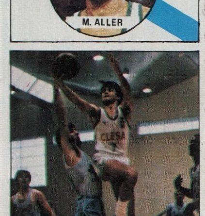 Baloncesto 86-87. Manuel Aller (Clesa Ferrol). Editorial J. Merchante. 📸: Fernando Cardona.