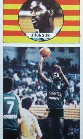 Baloncesto 86-87. Reginald Johnson (Joventut de Badalona). Editorial J. Merchante. 📸: Fernando López García.