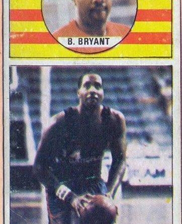 Baloncesto 86-87. Wallace Bryant (F.C. Barcelona). Editorial J. Merchante. 📸: Grupo de Facebook Nuestros álbumes de cromos.