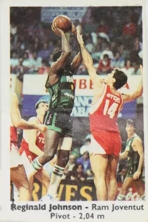 Basket Cromos 88-89. Reginald Johnson (Juventud de Badalona). Editorial J. Merchante – Bollycao. 📸: Felipe Martín Moreno.