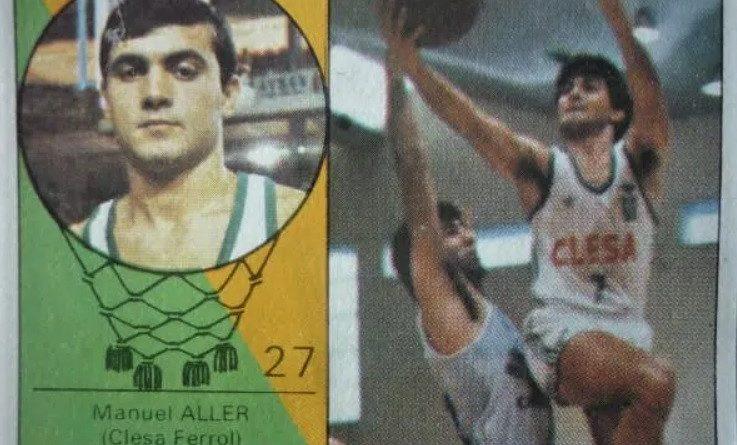 Campeonato Baloncesto Liga 1985-1986. Manuel Aller (Clesa Ferrol). Ediciones J. Merchante – Clesa. 📸: Mario Minguez.