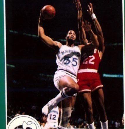 NBA 1984-85. Wallace Bryant (Dallas Mavericks). Star. 📸: Francisco Martín.
