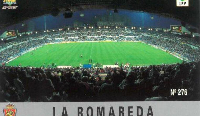 Las fichas de la Liga 97-98. Nº 276. Estadio de La Romareda (Real Zaragoza). Editorial Mundicromo.