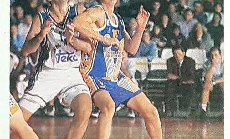 ACB 95-96.Carlos Ruf (Valvi Girona). Editorial Mundicromo. 📸: Grupo de Facebook Nuestros álbumes de cromos.